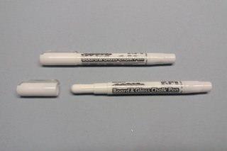 Белый меловой маркер Board & Glass Chalk Pen Mungyo
