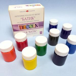 Набор акриловых красок «Батик» Decola