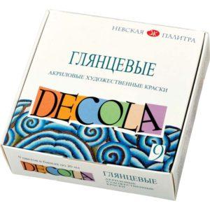 Набор акриловых глянцевых красок DECOLA цветовв банках по 20 мл
