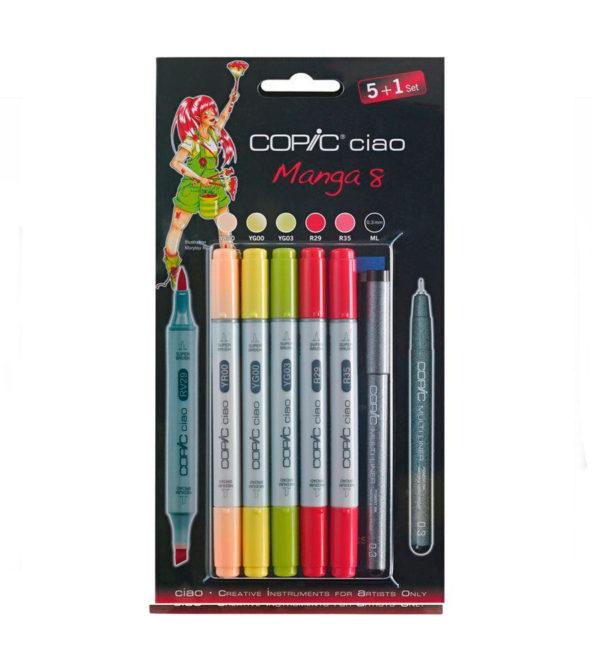 Набор маркеров Copic Ciao - Manga 8