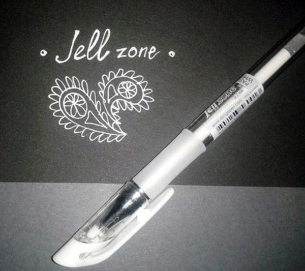 Белая гелевая ручка Jell Zone Dong-A