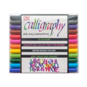 Набор маркеров Zig Calligraphy II