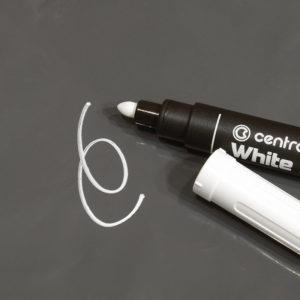Белый маркер Centropen