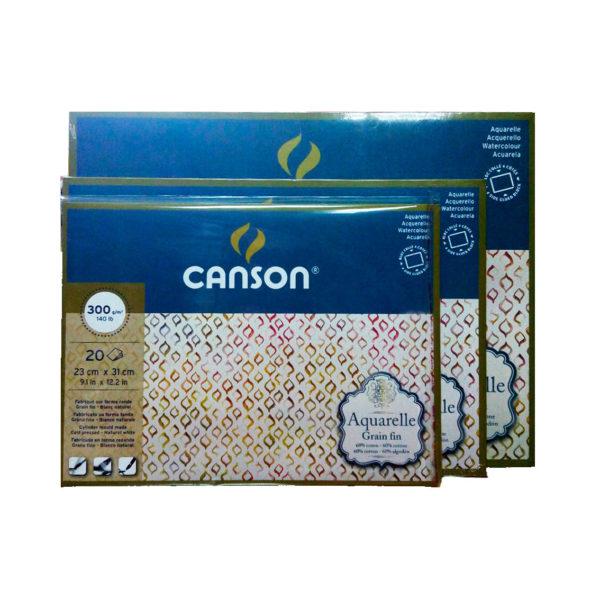 Скетчбук-склейка сакварельной бумагой Canson