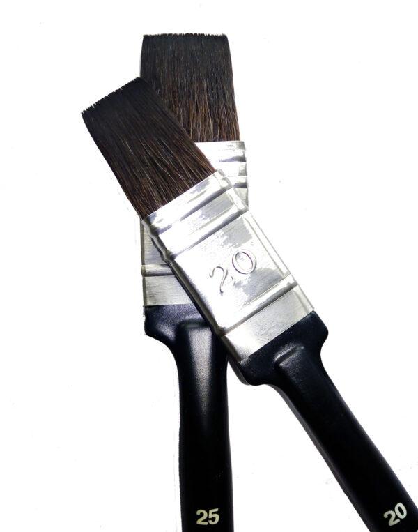 Плоская кисть-флейц из синтетики