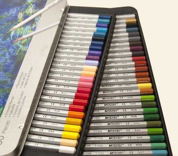 Набор цветных карандаши Marco Raffine в металлическом пенале