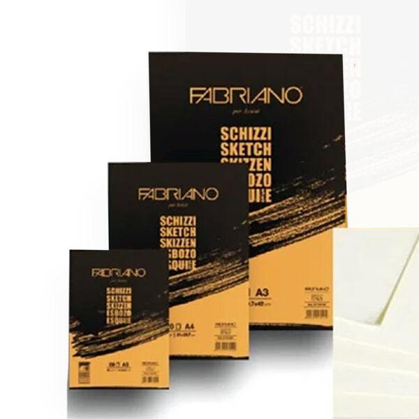 Альбом для зарисовок Schizzi Fabriano 90г/м2 склейка