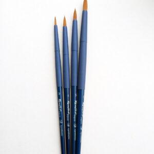 Кисть синтетика круглая AQUA BLUE Roubloff